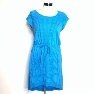Johnny was embroidered drawstring dress